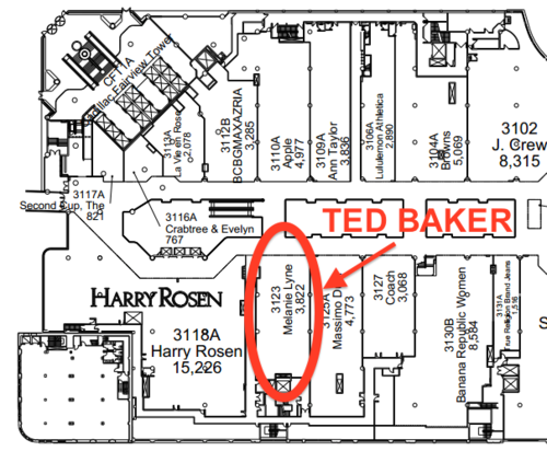 Ted Baker to open at Toronto Eaton Centre
