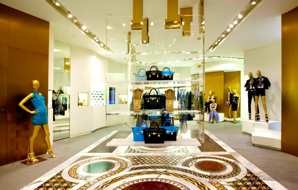Inside of Hong Kong's new Versace store. Photo: Versace