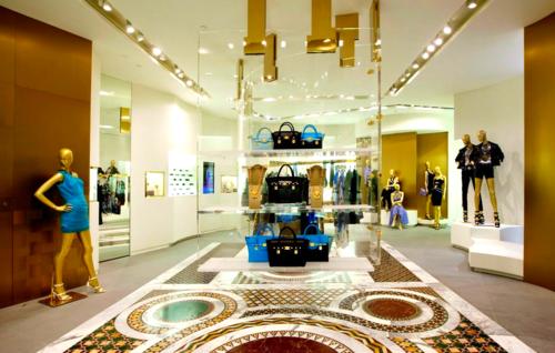 Inside of Hong Kong's new Versace store. Photo: Versace