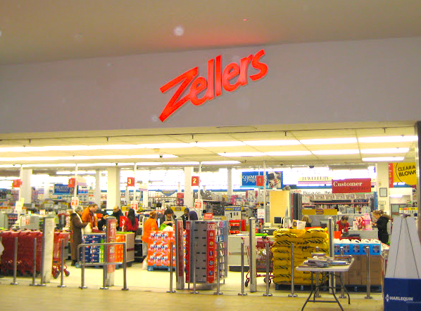 Target replaced many former Zellers store locations throughout Canada. Photo:   elaineloring.blogspot.ca