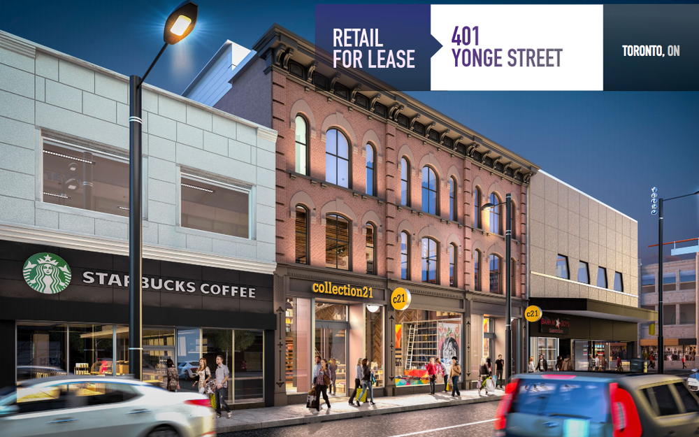 For Lease: 401 Yonge Street, Toronto. Click the image above to learn more.