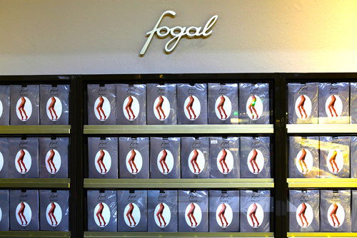 Fogal hosiery display. Photo: www.fashionfish.ch