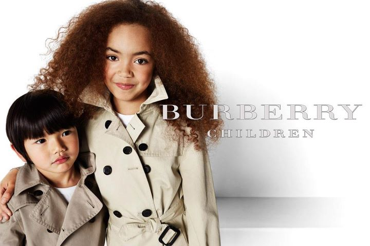 Nordstrom will feature Burberry children swear. Photo: Burberry