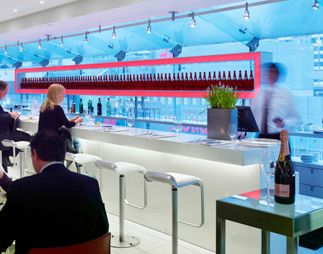 Calgary's expanded Holt Renfrew will feature a licensed restaurant/cafe on its newly opened 4th floor. This photo is of  the Café at Holt's in Toronto. Photo: Holt Renfrew