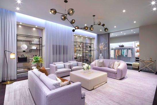 A 1,000 square foot luxury shopping 'Apartment' will be featured as part of Holt Renfrew's Calgary store expansion. Photo: Janson Goldstein.