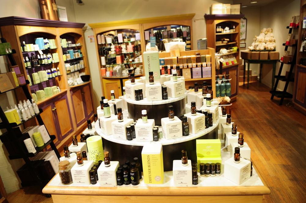 Inside Saje's Kelowna store, Photo:www.tujawellness.com