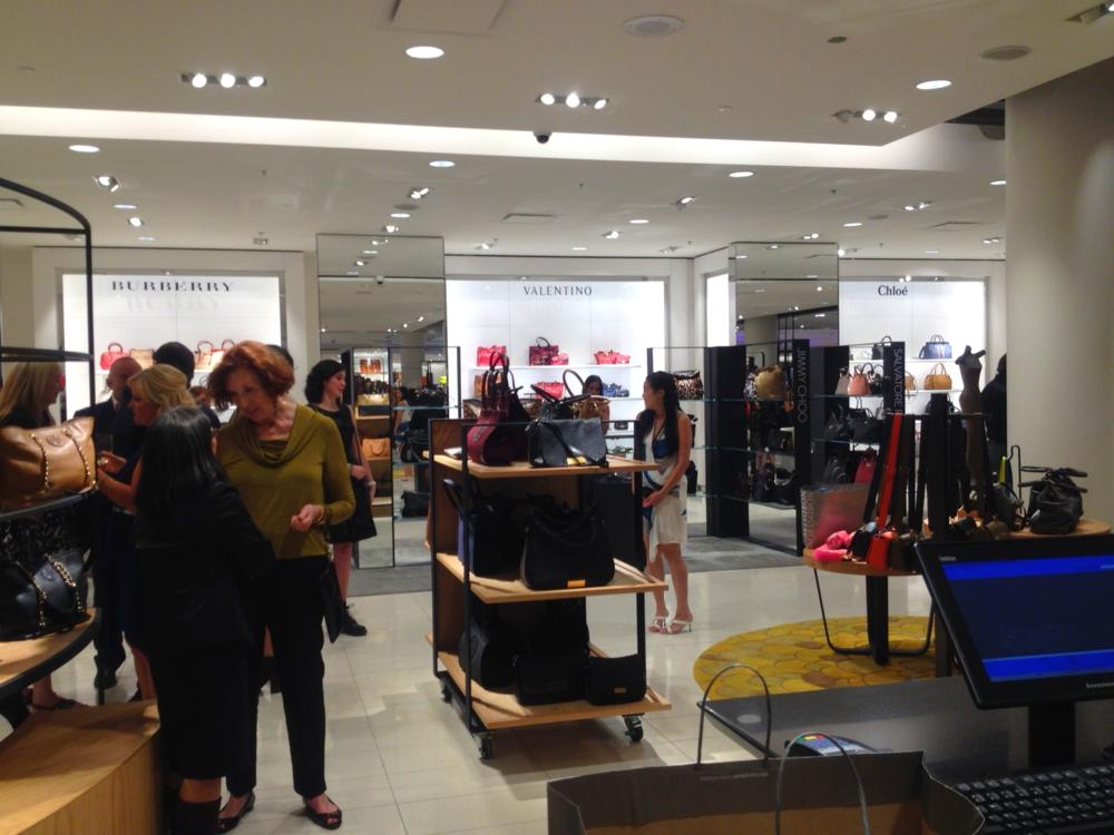 Women's handbags include soft shops for Burberry, Valentino and Chloé.
