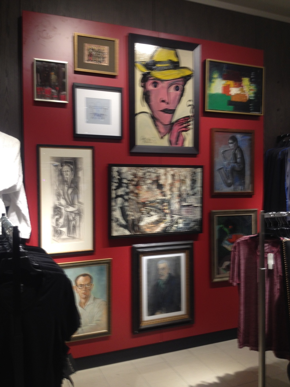 We were surprised to find artwork throughout the store from Canadian artists.