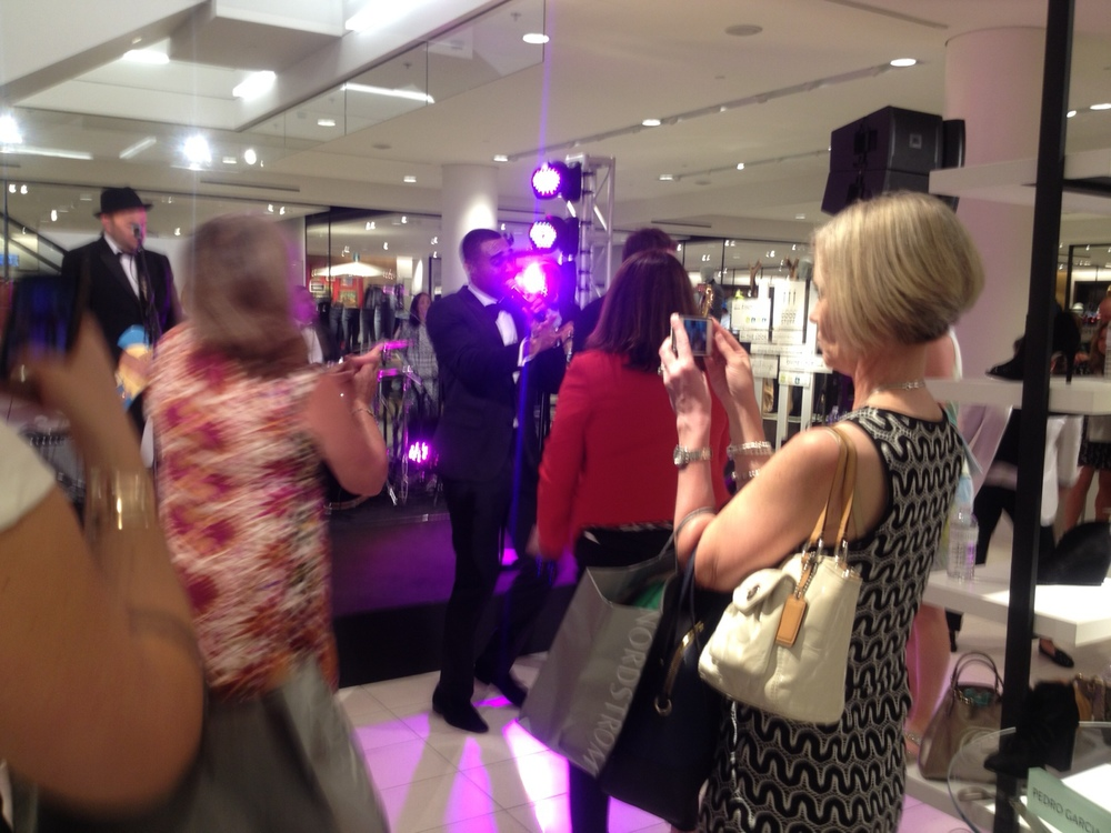 Music and dancing at Nordstrom's Calgary gala.