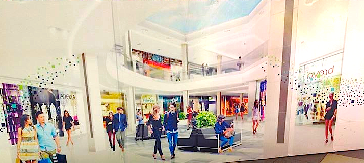 Renovation rendering at the mall. Photo: Darrell Bateman.