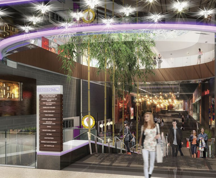 Rendering of a renovated Bourbon Street. Photo: West Edmonton Mall.