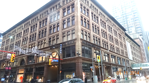 Sources say that a large Saks food hall will locate on the basement level of Hudson's Bay's Toronto Eaton Centre flagship, with three levels above for a luxurious Saks store. Photo: Darrell Bateman.