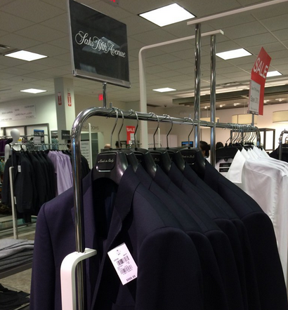 Saks Fifth Avenue clearance merchandise at Hudson's Bay Outlet, Toronto Premium Outlets. Photo: Toronto Shopkeeper.