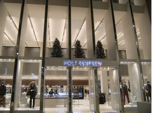 Holt Renfrew at The CORE, Calgary. Photo: Darrell Bateman.
