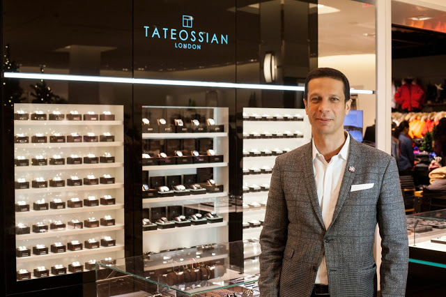 Designer Robert Tateossian at his Yorkdale boutique. Photo: Harry Rosen.