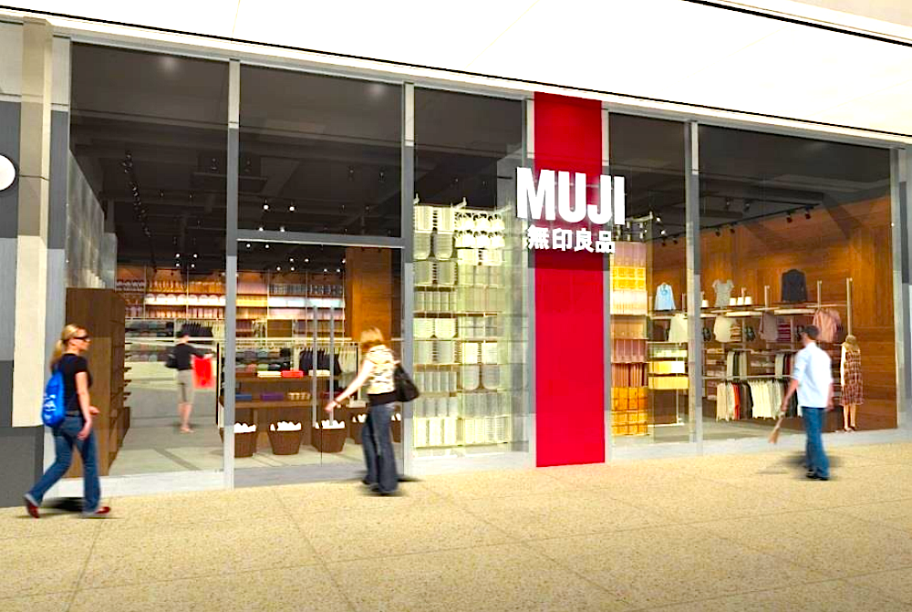 Rendering of Muji's Dundas Street entrance in Toronto, provided by Muji.