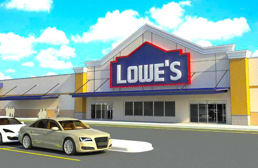 Rendering of the new Sault Ste. Marie Store. Photo: Lowe's.