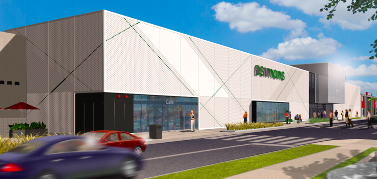 Updated rendering of the new Gatineau store, via LEMAYMICHAUD Architecture Design.