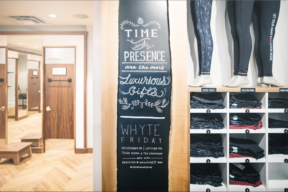 Inside Lululemon's newest store concept. Photo: Nicholas Yee.