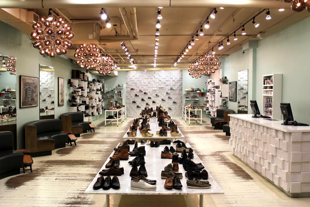Inside Vancouver's footwear boutique.