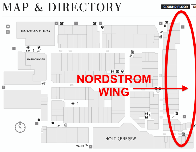 Click image above for an interactive Yorkdale mall map.