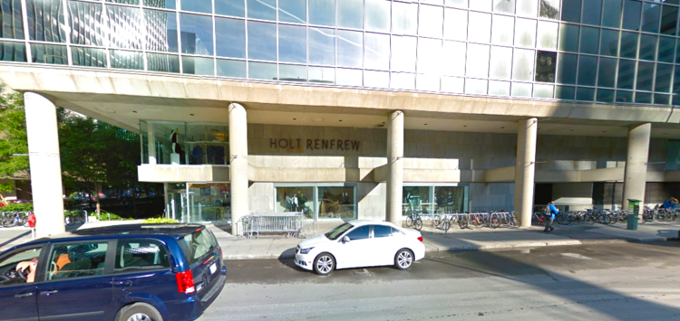 Holt Renfrew's former Ottawa store. Photo: Google Street View screen capture.