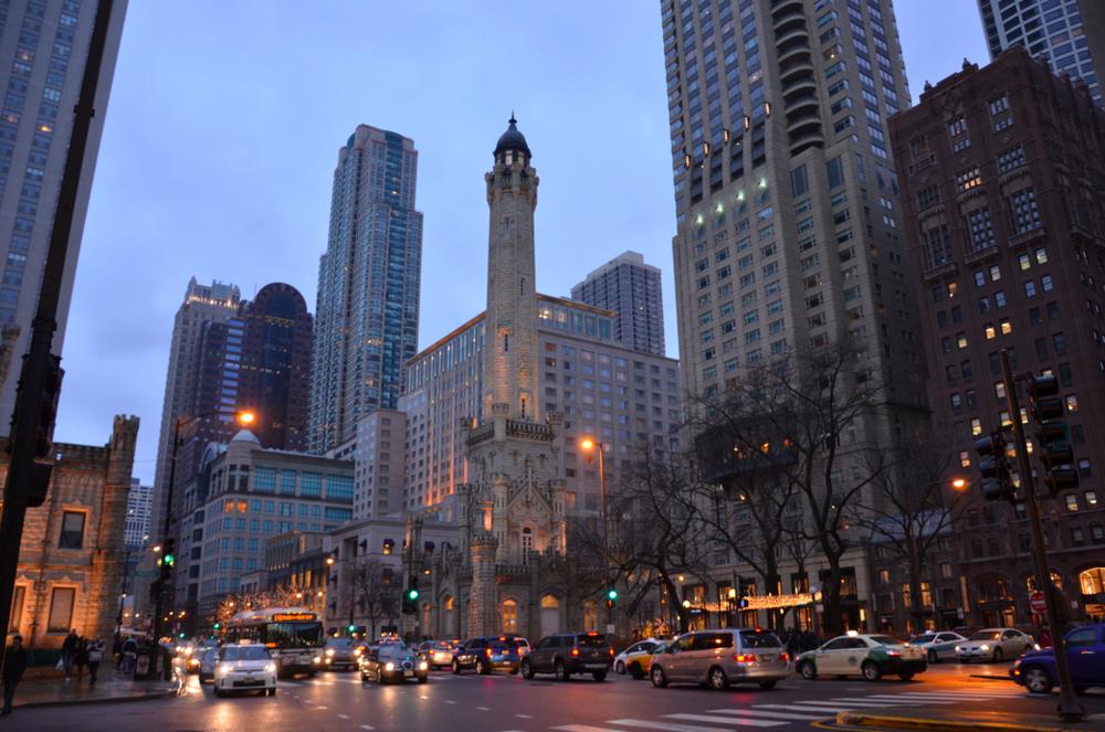 North Michigan Avenue, Chicago. Photo:  thetravellingfork.wordpress.com
