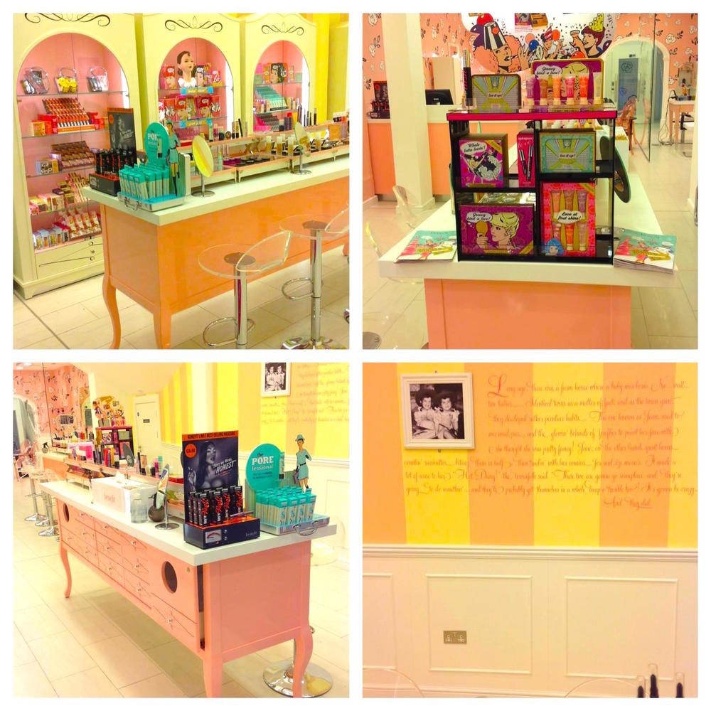 Inside the Dublin Benefit shop. Photo:   thebeautycloud.co.uk