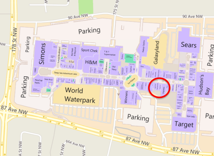 West Edmonton Mall Map The Oakley Store West Edmonton Mall | CINEMAS 93 West Edmonton Mall Map