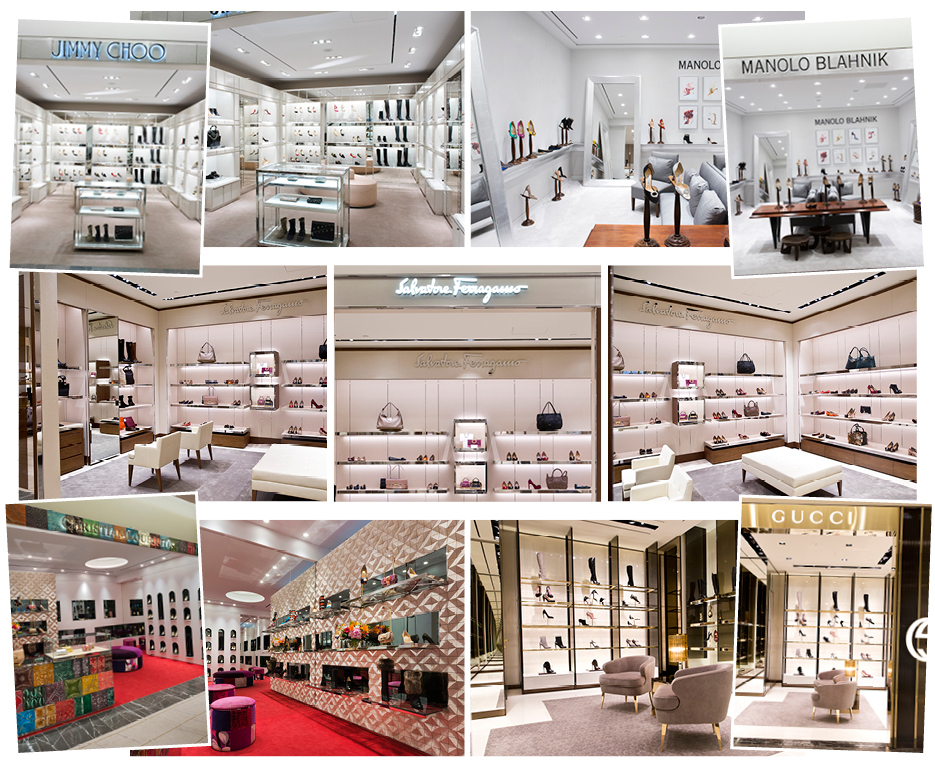 Yorkdale's expanded 10,000 sq ft women's shoe floor includes shops-in-stores for Christian Louboutin, Manolo Blahnik, Jimmy Choo, Gucci and Ferragamo. Photo: Holt Renfrew.