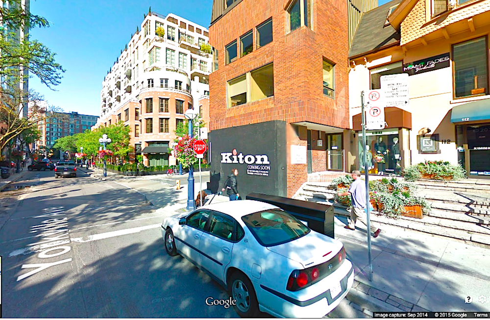 Google screen capture from September 2014 indicates Kiton as 'coming soon'. Kiton finally opened about 8 months later.