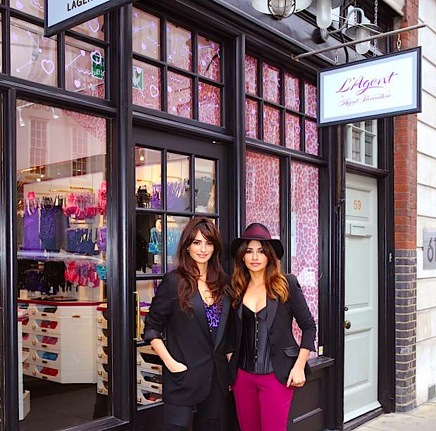 Cruz sisters in front of London store. Photo: standard.co.uk