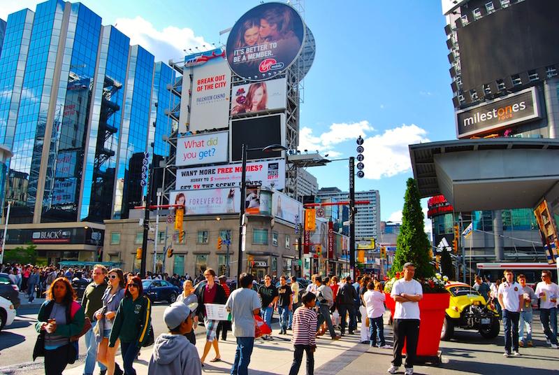 The area around Toronto Eaton Centre boasts some of Canada's highest pedestrian counts. Photo: Toronto.com
