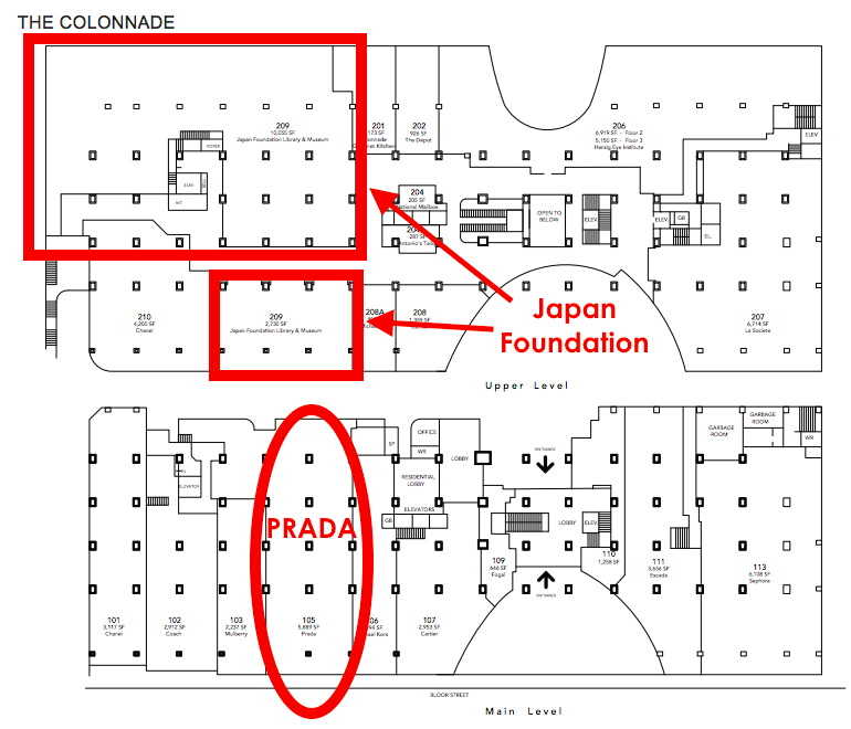 Click above for full PDF Colonnade lease plan, via Morguard.