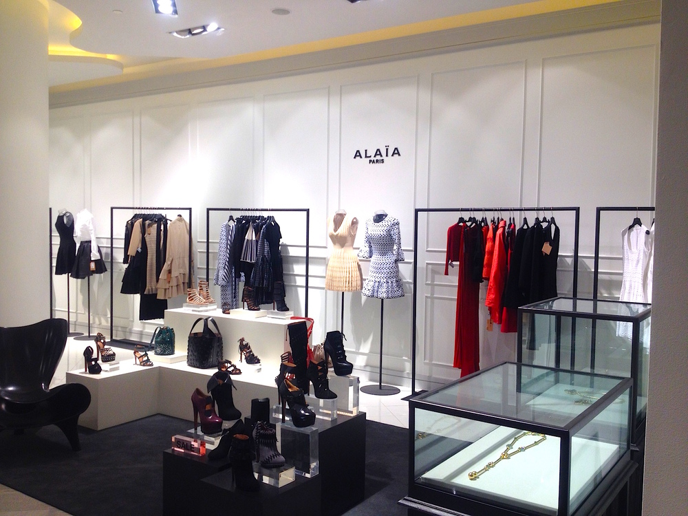 Azzedine Alaïa shop-in-store. Photo: Craig Patterson