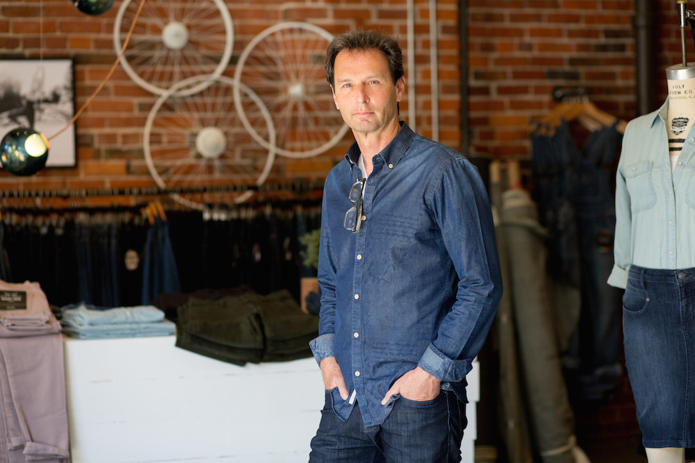 Founder Gary Lenett has over 25 years in the denim industry and extensive experience collaborating with brands including Levi Strauss, Wrangler, Guess, Eddie Bauer, Nordstroms, Banana Republic, Nike (Michael Jordan), Harley Davidson and Lululemon (Ococco). Photo: Rhonda Dent Photography