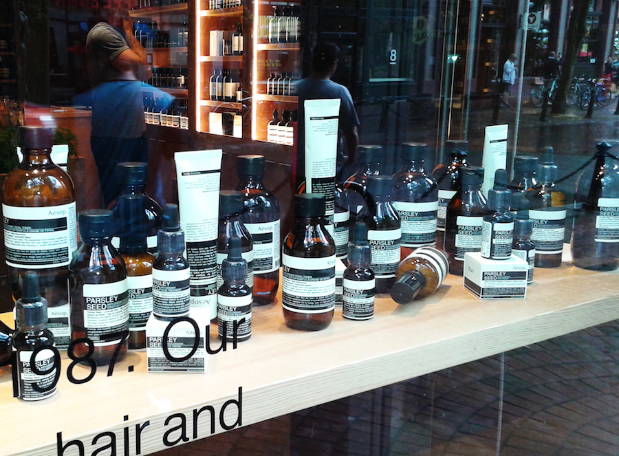 Window display in the Vancouver location. Photo: Helen Siwak
