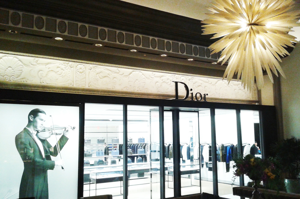 Dior Homme entrance from inside the Hotel Vancouver. Photo: Helen Siwak