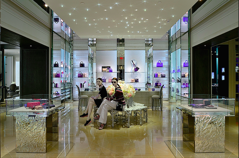 Ground-floor handbags department. Photo: Dior