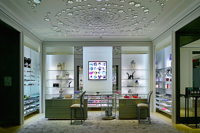 Ground-floor accessories department. Photo: Dior