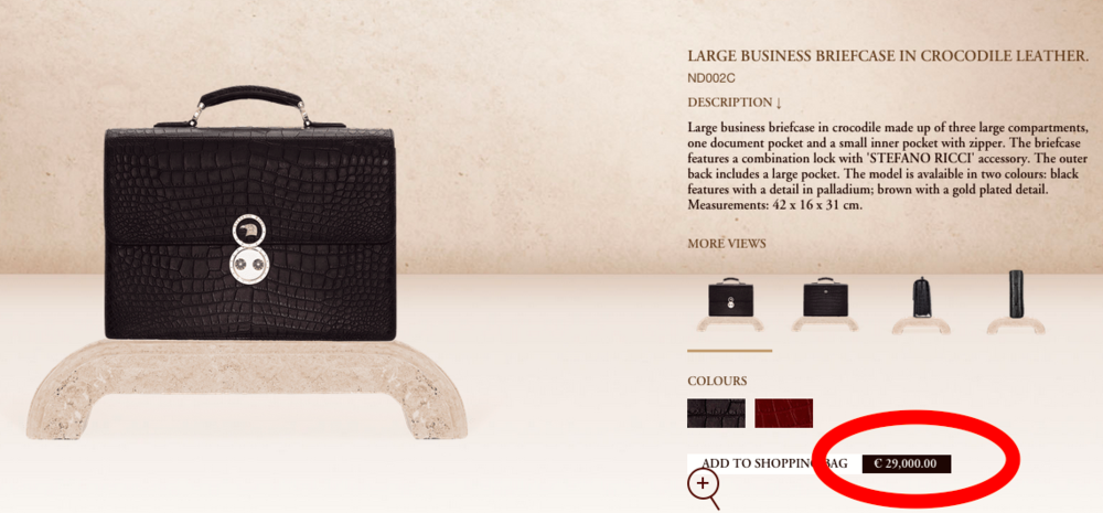 Screen capture, Stefano Ricci website