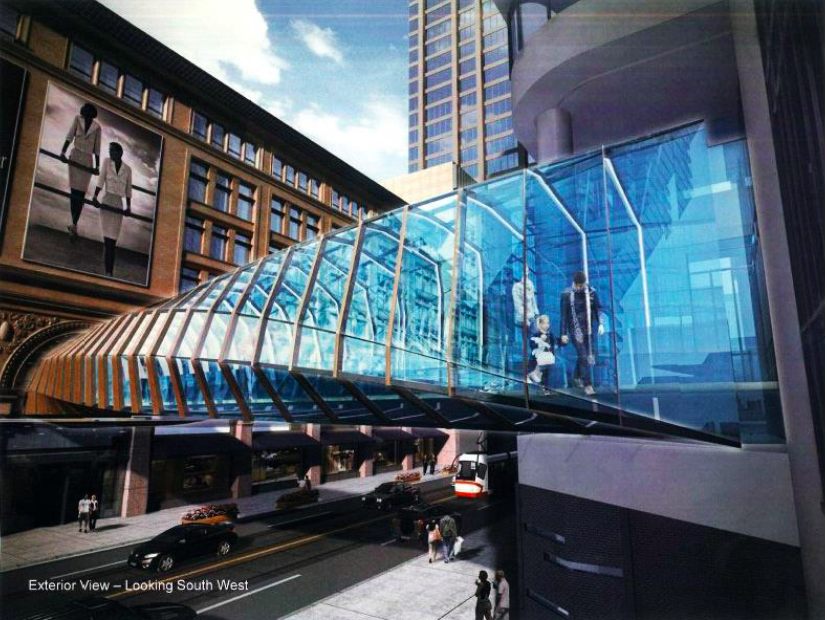 New pedway linking Toronto Eaton Centre with Saks/Hudson's Bay. Rendering: Hudson's Bay Company