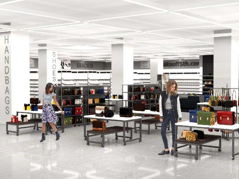 New store design rendering via Hudson's Bay Company/Saks Fifth Avenue