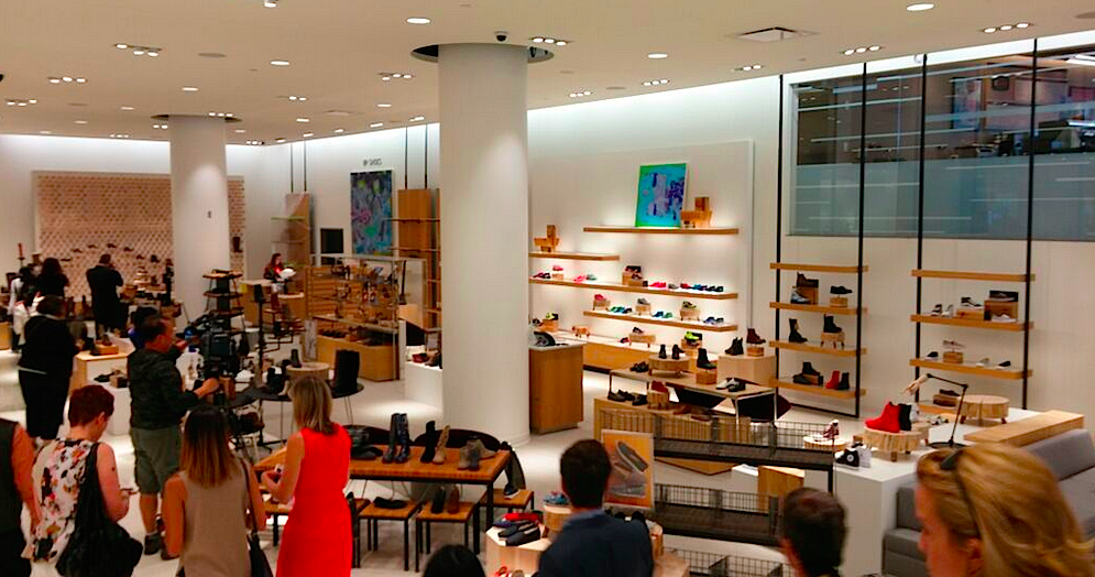 Women's shoes, ground floor. Photo: Ritchie Po