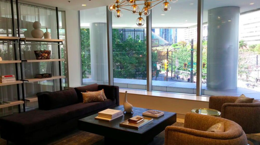 Personal shopping suite overlooking Robson Street. Photos: Helen Siwak