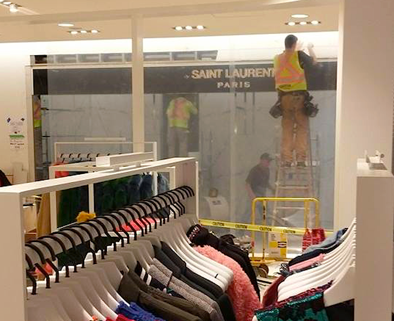 Saint Laurent women's ready-to-wear boutique, under construction on 2. Photo: Helen Siwak