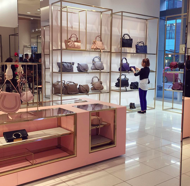 Chloé shop-in-shop at Nordstrom, Vancouver. Photo: sophie_at_home via Instagram