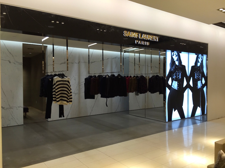 Saint Laurent women's ready-to wear on 2 at Nordstrom in Vancouver. Photo: William Connor