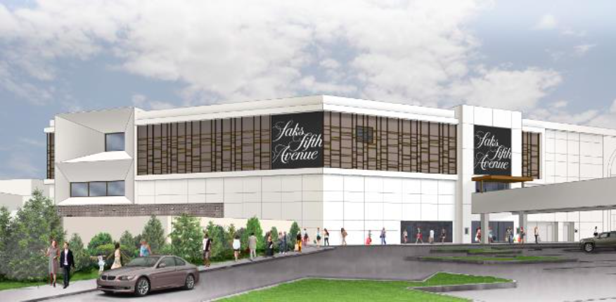 Rendering courtesy of Saks Fifth Avenue