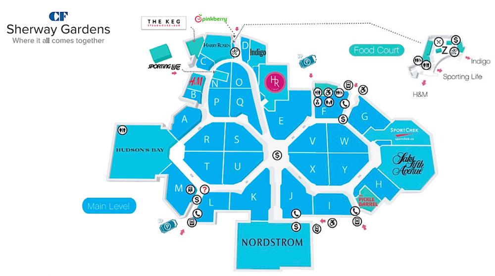 Map: CF Sherway Gardens